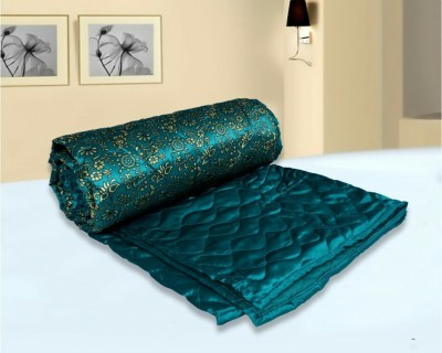 N decor Floral Double Quilts & Comforters Green