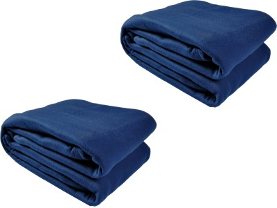 Kema Plain Single Blanket Dark Blue