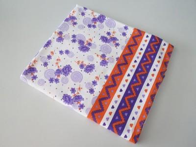 Deluxe Floral Single Top Sheet Purple