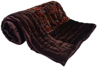Ndecor Floral Double Quilts & Comforters Brown