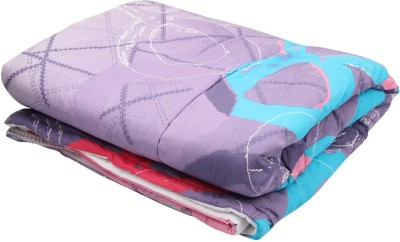 Coco Bee Abstract Single Quilts & Comforters Purple, Green
