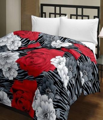 Nakoda Floral Single Dohar Black, Red