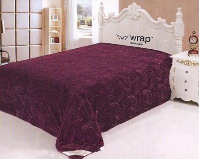 Wrap Paisley Double Blanket MAGENTA