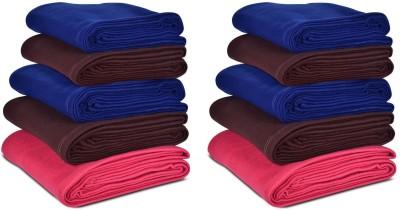 Saksham Plain Single Blanket Multicolor