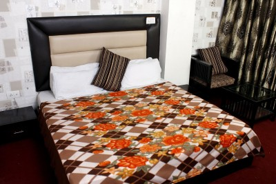 The Chaddar Floral, Geometric Double Blanket Multicolor