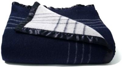 Loomkart Plain Single Blanket Blue