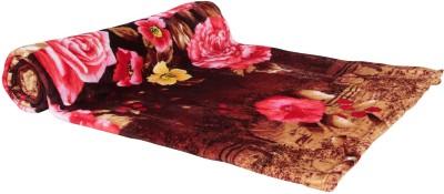 Zesture Floral Double Blanket Multicolor(Fleece Blanket, (1 light weight Double blanket(Flannel)))