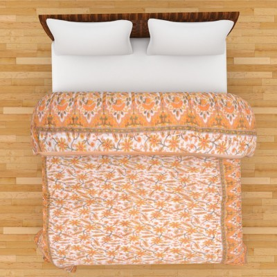The Ethnic Story Floral Single Quilts & Comforters Yellow