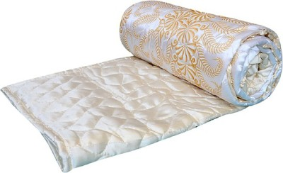 Ooltah Chashma Floral Double Quilts & Comforters Yellow
