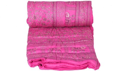 sellstra Floral Single Quilts & Comforters Pink