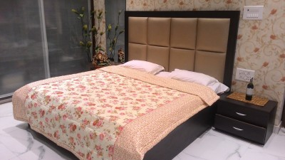 Tima Floral Double Quilts & Comforters Beige
