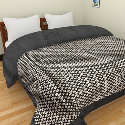 Shra Floral Double Quilts & Comforters Black