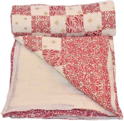 Stole & Yarn Floral Single Quilts & Comforters Pink