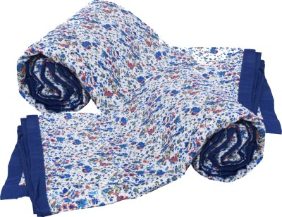 IndiWeaves Floral Single Dohar Blue