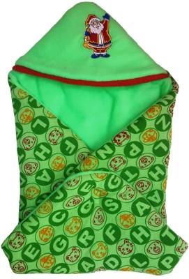 Brandonn Checkered Single Hooded Baby Blanket Green