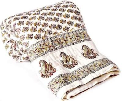 Monil Floral Double Quilts & Comforters White