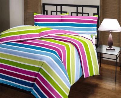 Factorywala Striped Double Dohar Multicolor