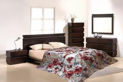 Wrap Floral Double Quilts & Comforters Beige