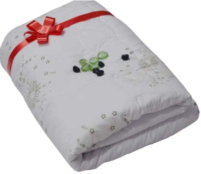 The Intellect Bazaar Floral Double Quilts & Comforters White