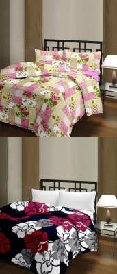 The Home Story Floral, Checkered Single Dohar Multicolor