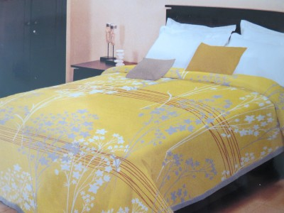 Bombay Dyeing Floral Single Blanket Yellow