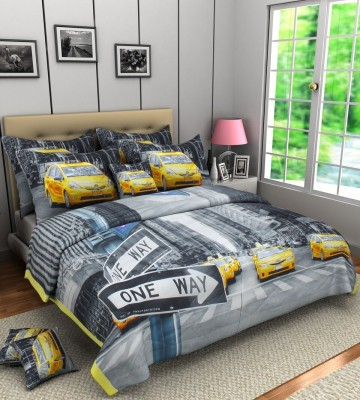 A,la Mode Creations Text Print King Quilts & Comforters Offwhite