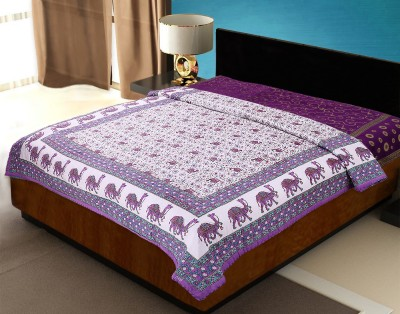 JaipurFabric Animal Double Quilts & Comforters Purple