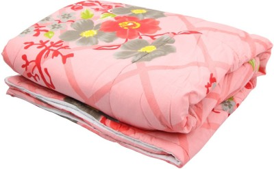 Coco Bee Floral Single Quilts & Comforters Pink