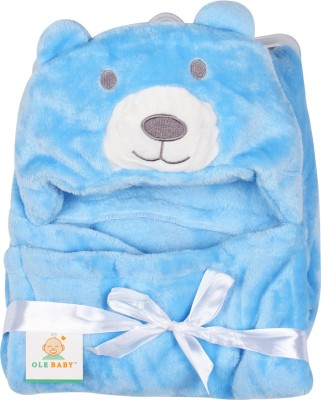 Ole Baby Plain Single Blanket Blue