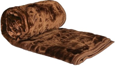 Fab Ferns Plain Single Blanket Brown