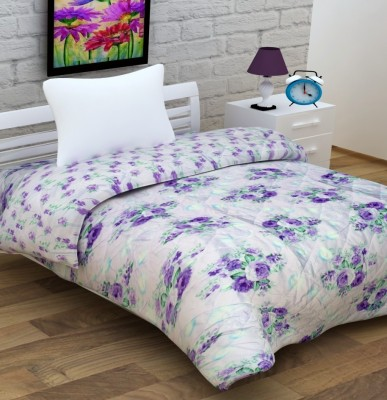 Enfin Homes Floral Single Quilts & Comforters White