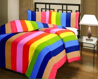Factorywala Striped Single Blanket Multicolor