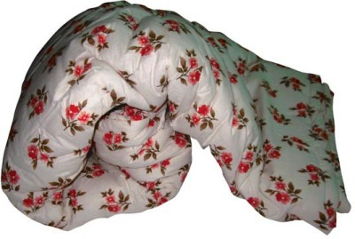 Art-Tickles Floral Single Quilts & Comforters White, Red