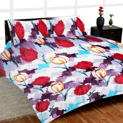 Madhavs Floral Double Blanket Multicolour