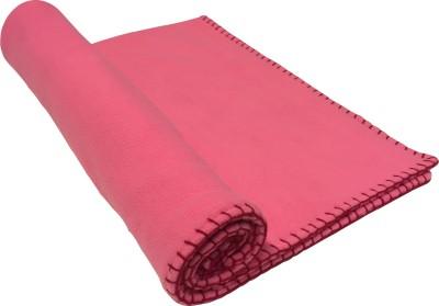 Wobbly Walk Plain Single Blanket Light Pink