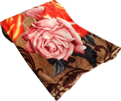 Mandhania Floral Double Blanket Muticolor