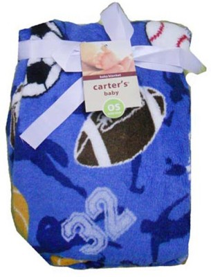 Carter Printed Single Blanket Blue