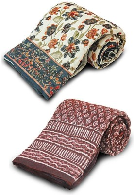 Little India Abstract Single Quilts & Comforters Maroon