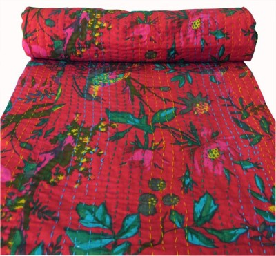 HAG Art and Craft Floral Double Quilts & Comforters Red