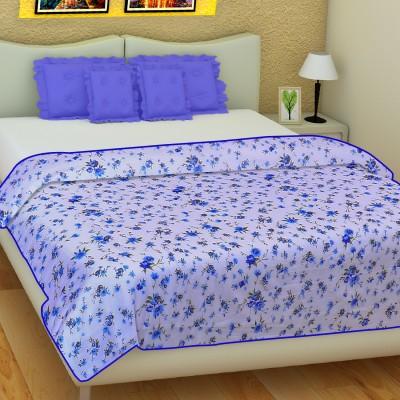 SLEEP N DREAM Floral Single Dohar Blue