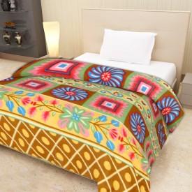 IWS Plain Single Blanket Multicolor(1 Blanket)