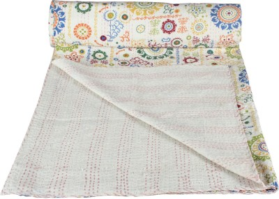 Rajcrafts Abstract Double Quilts & Comforters White