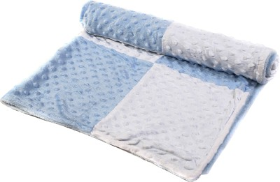 Baby Oodles Checkered Crib Crib Baby Blanket Blue