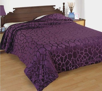 Zyne Abstract Double Quilts & Comforters Purple
