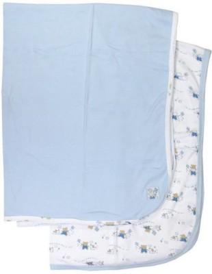 Luvable Friends Printed Single Blanket Blue