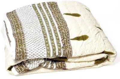 Textile India Embroidered Double Quilts & Comforters Brown