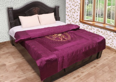 Chelsi Embroidered Double Quilts & Comforters Purple