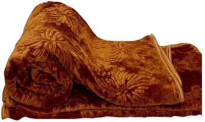 Tip Top Sales Floral Double Blanket Brown