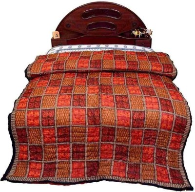 Home India Checkered Double Quilts & Comforters Multicolor
