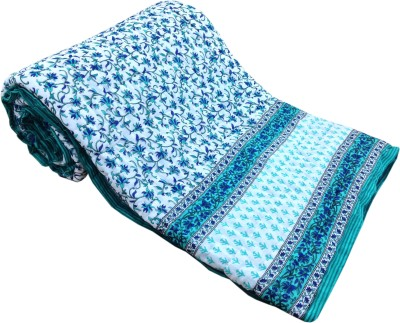 Artisan Creation Floral Double Quilts & Comforters Blue, White